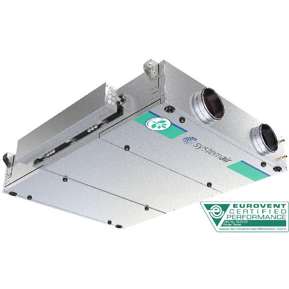 Приточно-вытяжная вентиляционная установка 1000 м3/ч Systemair Topvex FC02 HWH-L
