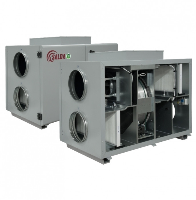 Приточно-вытяжная вентиляционная установка 2000 м3/ч Salda RIRS 1900 HE EKO 3.0