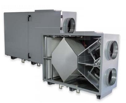 Приточно-вытяжная вентиляционная установка 2000 м3/ч DVS RIS 1900 НW EKO 3.0
