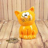 "Копилка керамика ""Рыжий кот"" 14х8х8 см, фото 1"