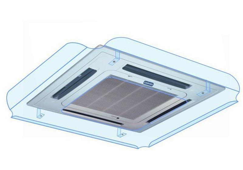Отражатель воздушного потока кассетного кондиционера Sinbo 700x700 ПЭТ 2 мм прозрачный, крючки