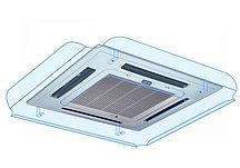 Отражатель воздушного потока кассетного кондиционера Sinbo 1000x1000 ПЭТ 2 мм прозрачный, крючки