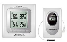 Цифровая метеостанция с радиодатчиком Atomic W239009 White