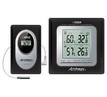 Цифровая метеостанция с радиодатчиком Atomic W239009 Black