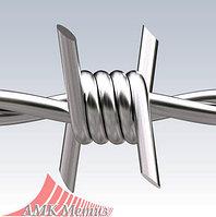 Колючая проволока двухосновная оцинкованная, 1,8 мм, 420-450 м