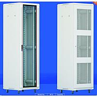 """Шкаф сетевой Teos 2000*600*800 19"""" 42U в комплекте: Каркас шкафа, передняя дверь со стеклом, задняя дверь перф"""