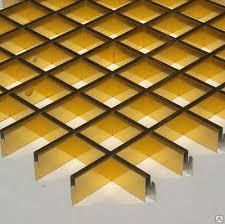 Потолок Грильято золото 75*75