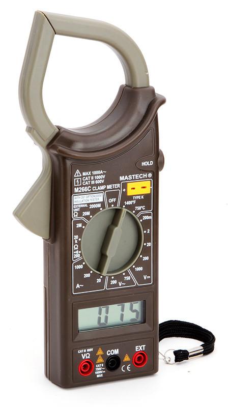 M266C Mastech клещи токоизмерительные цифровые(переменный ток)