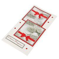 """Открытка """"С Днём Рождения!"""" розы, красная лента, ручная работа, фото 1"""