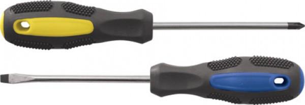 Отвертка 8*150мм SL эргономичная рукоятка с магнитным наконечником МАСТЕР FIT