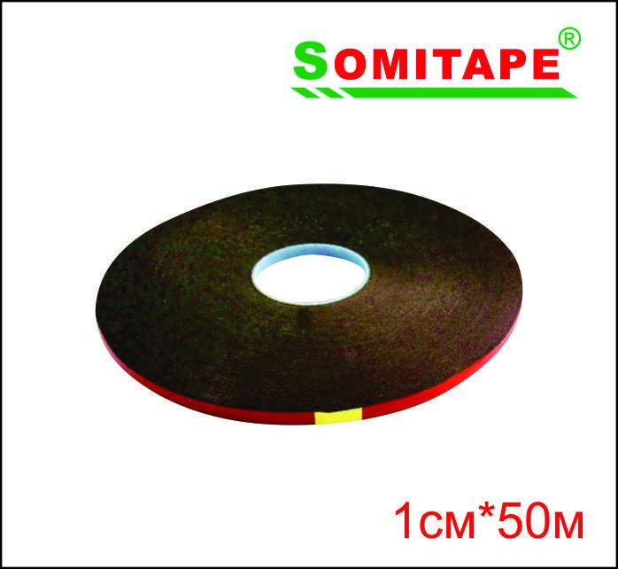 Клеевая лента черная (вспененная, двусторонняя) 1смХ50м
