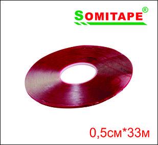 Двусторонний силиконовый (прозрачный) 0,5смХ33м
