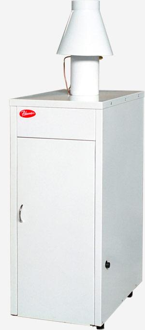 Напольный газовый котел Ривнетерм-32 (автоматика каре, Польша), 32 кВт до 300 м²