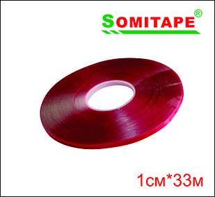 Двусторонний силиконовый прозрачный 1смХ33м
