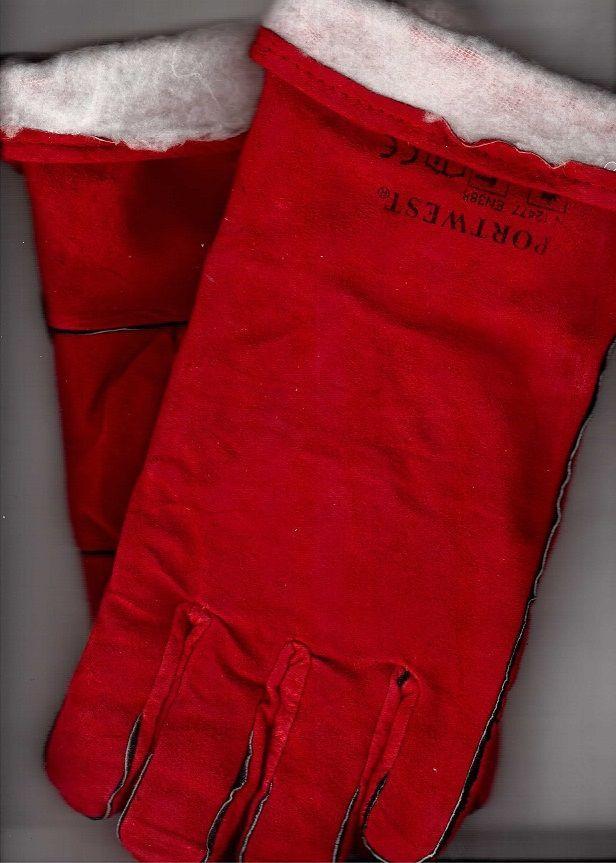 Краги спилковые пятипалые с подкладкой (Зима)