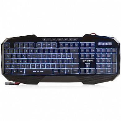 Проводная игровая мультимедийная клавиатура с подсветкой. CROWN MICRO CMKG-401