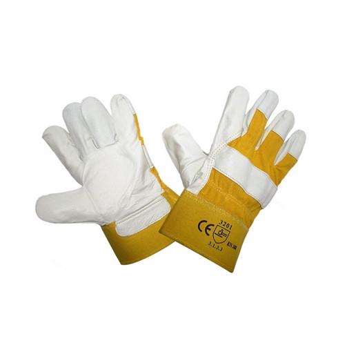 Перчатки кожаные комбинированные утепленные (Зима)