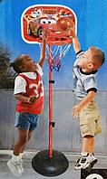 """Баскетбольное кольцо на регулируемой стойке 90-120 см """"Тачки"""" с мячом и насосом 2 в 1 (маленькое)"""