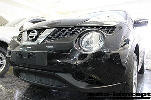 Защита радиатора Nissan Juke 2014- black низ PREMIUM