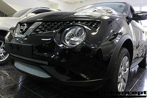 Защита радиатора Nissan Juke 2014- chrome верх PREMIUM