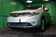 Защитно-декоративные решётки радиатора Nissan Murano Z51 (рестайлинг) 2011-2015