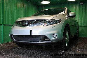 Защита радиатора Nissan Murano Z51 (рестайлинг) 2011-2015 black PREMIUM