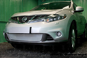 Защита радиатора Nissan Murano Z51 (рестайлинг) 2011-2015 chrome PREMIUM