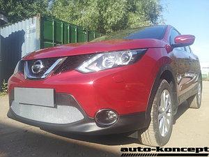 Защита радиатора Nissan Qashqai 2014- chrome PREMIUM