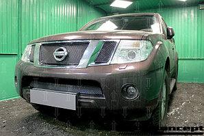 Защита радиатора Nissan Pathfinder (NAVARA) 2011-2014 black низ PREMIUM