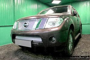 Защита радиатора Nissan Pathfinder (NAVARA) 2012-2014 chrome верх PREMIUM