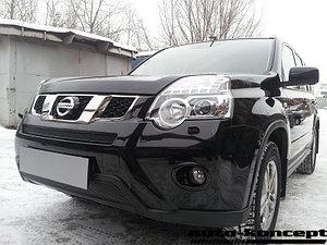 Защита радиатора Nissan X-Trail 2011-2014 black низ PREMIUM