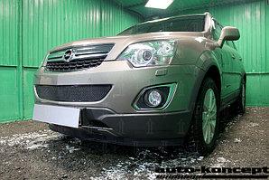 Защита радиатора Opel Antara I (рестайлинг) 2012- black середина PREMIUM