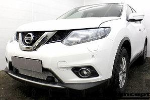 Защита радиатора Nissan X-Trail T32 2015- c парктроником chrome PREMIUM