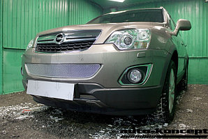 Защита радиатора Opel Antara I (рестайлинг) 2012- chrome середина PREMIUM