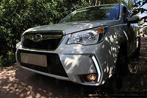 Защита радиатора Subaru Forester IV (US Version) 2013-2016 black верх PREMIUM