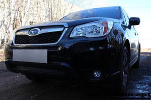 Защита радиатора Subaru Forester IV 2013-2016 black верх PREMIUM