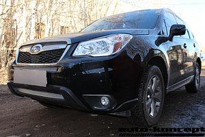 Защита радиатора Subaru Forester IV 2013-2016 chrome верх PREMIUM