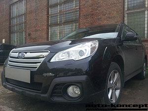 Защита радиатора Subaru Outback IV 2012-2014 black PREMIUM