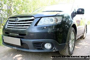 Защита радиатора Subaru TRIBECA (I рестайлинг) 2007-2014 black PREMIUM
