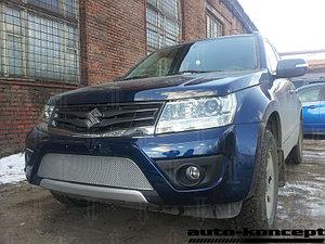 Защита радиатора Suzuki Grand Vitara 2012- chrome PREMIUM