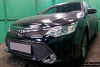 Защита радиатора Toyota Camry XV50 2014- black низ PREMIUM