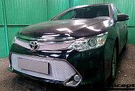 Защита радиатора Toyota Camry XV50 2014- chrome верх PREMIUM