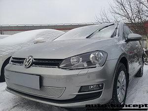 Защита радиатора Volkswagen Golf VII chrome PREMIUM