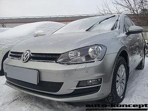 Защита радиатора Volkswagen Golf VII black PREMIUM