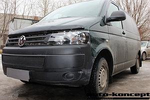 Защита радиатора Volkswagen T5 рестайлинг (Transporter, Multivan, Caravelle) 2009- black PREMIUM