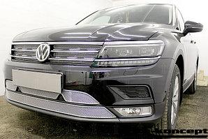 Защита радиатора Volkswagen Tiguan II 2016- chrome верх PREMIUM