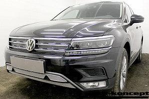Защита радиатора Volkswagen Tiguan II 2016- chrome низ (Off-Road) PREMIUM