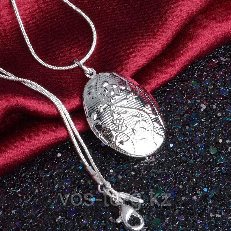 """Кулон на цепочке """"Овальный медальон"""""""