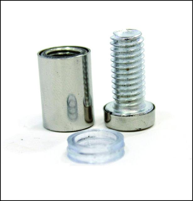 Дистанционный держатель 12х22 мм серебро глянец