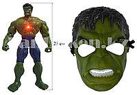 Набор детская маска и фигурка высотой 25 см со световыми и звуковыми эффектами Халк